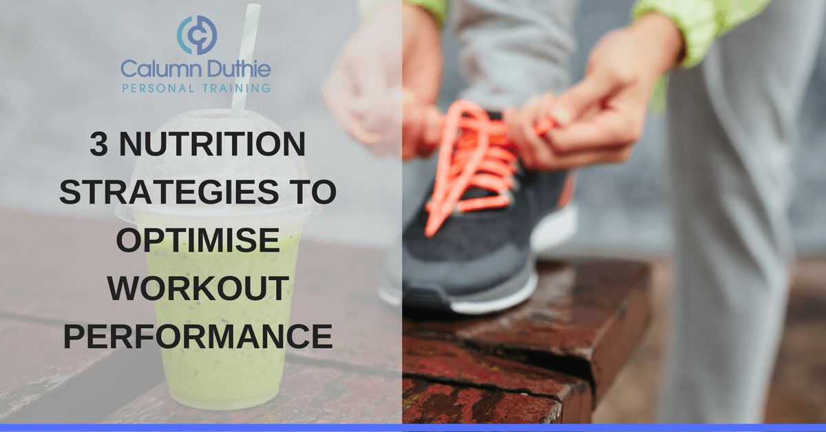 Nutrition for pre and post workouts